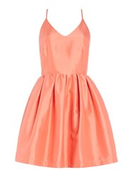 Girls On Film Sleeveless Fit And Flare Dress Coral