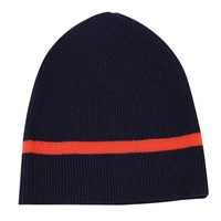 Ille De Cocos Rib Beanie Navy And Coral Blue