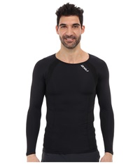 2Xu Compression L S Top Black Black Men's Long Sleeve Pullover