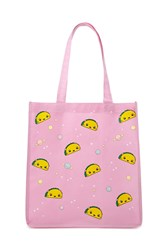 Forever 21 Taco And Space Shopping Tote Pink Multi