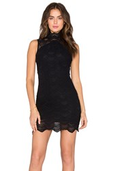 Nightcap Victorian Lace Sleeveless Dress Black