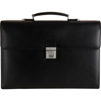 Serapian Evolution Two Gusset Briefcase Black