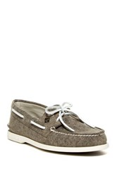 Sperry Authentic Original 2 Eye Boat Shoe Gray