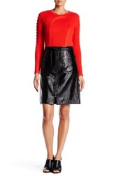 Tracy Reese Zip Front Skirt Black