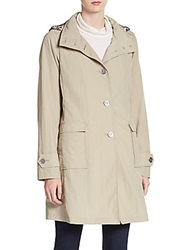 Jane Post A Line Trench Coat Tan