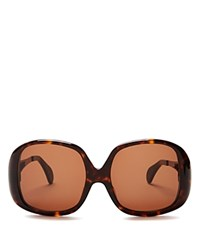 Wildfox Couture Liz Oversized Square Sunglasses 59Mm Tortoise Brown Solid