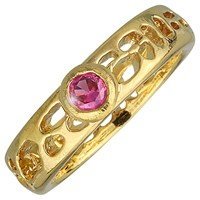 La Corza Narrow Cactus Solitaire Ring Ruby