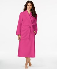 Miss Elaine Embroidered Bath Robe Pink