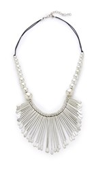 Raga Beaded Statement Necklace Silver