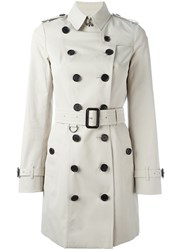 Burberry Double Breasted Trench Coat Nude And Neutrals