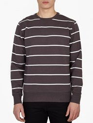 Saturdays Surf Nyc Grey Striped Bowery' Sweatshirt