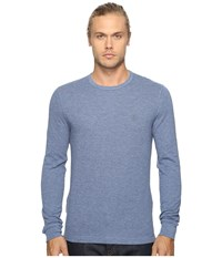 Original Penguin Long Sleeve Reversible Tee Bering Sea Men's T Shirt Blue