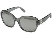 Michael Kors Tabitha Iii Grey Glitter Silver Mirror Fashion Sunglasses Gray