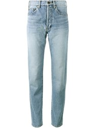 Saint Laurent High Waist Jeans Blue