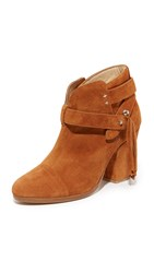 Rag And Bone Harrow Fringe Booties Tan