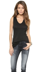 Three Dots Jersey Colette Tank Black