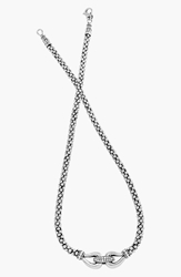 Lagos 'Derby' Diamond Buckle Rope Necklace Online Only Silver Gold