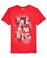 Sean John Men's Graphic Print T Shirt True Red