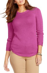 Plus Size Women's Lauren Ralph Lauren Crewneck Sweater Deep Orchid