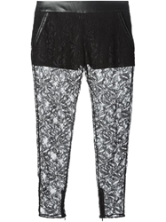 Amen Lace Trousers Black