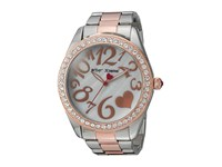 Betsey Johnson Bj00249 39 Two Tone Heart Face Silver Rose Gold Watches