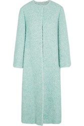 Emilia Wickstead Helena Boucle Coat Sky Blue