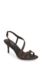 Calvin Klein Women's 'Lorren' Leather Sandal Tin Foil Suede