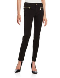 Michael Michael Kors Izzy Exposed Zipper Skinny Jeans Black