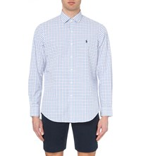 Ralph Lauren Regular Fit Single Cuff Checked Cotton Shirt Pink Blue
