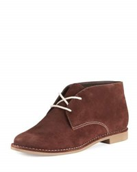 Bernardo Desmond Suede Lace Up Bootie Brown