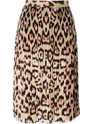 Givenchy Leopard Print Skirt Nude And Neutrals