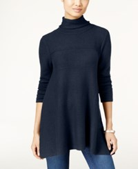 Styleandco. Style Co. Turtleneck Tunic Sweater Only At Macy's Industrial Blue