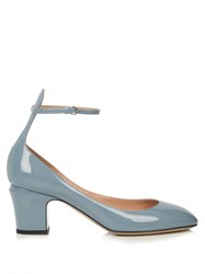 Valentino Tango Patent Leather Pumps Light Blue