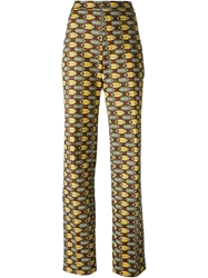 Stella Jean High Waist Trousers Green