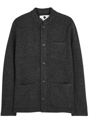 Nn.07 Oswald Grey Boiled Wool Jacket