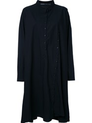 Rundholz Buttons Detailing Shift Dress Black
