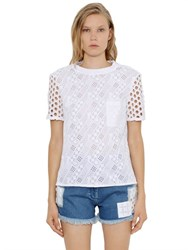 House Of Holland Embroidered Cotton Jersey T Shirt