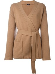 Joseph Belted Cardigan Brown