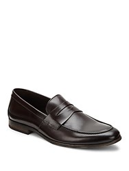 Bruno Magli Leather Penny Loafers Dark Brown