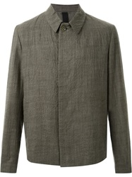 Forme D'expression Crinkled Effect Boxy Fit Jacket Grey