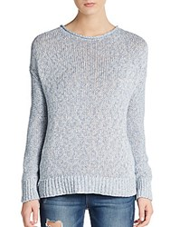Vince Marled Knit Dropped Shoulder Sweater Blue Haze