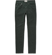Acne Studios Ace Skinny Fit Cotton Blend Corduroy Trousers Green