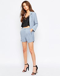 Girls On Film Tailored Shorts Pale Blue