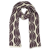 Baandsh Knitted Scarf Red White