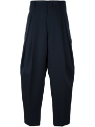 Juun.J Pleated Tapered Trousers Blue