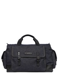 Dsquared Washed Cotton Denim Duffle Bag