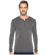 Kenneth Cole Reaction Ribbed Henley Black Men's Pajama