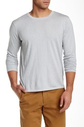 Autumn Cashmere Hi Lo Crew Neck Sweater Gray