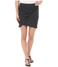 Lna Double Layer Mini Skirt Granite Women's Skirt Gray