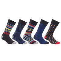 John Lewis Multi Design Socks Pack Of 5 Black Multi